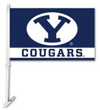 NCAA Brigham Young Cougars Car Flag with Wall Bracket Flag