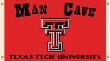 NCAA Texas Tech Red Raiders Man Cave Flag with Grommets Flag