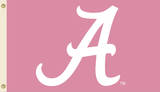 NCAA Alabama Crimson Tide Pink Design Flag with Grommets Flag