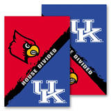 NCAA Kentucky - Louisville 2-Sided House Divided Rivalry Garden Flag Novelty