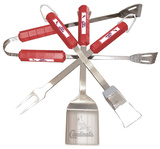 MLB St. Louis Cardinals Four Piece Stainless Steel BBQ Set BBQ Grill Set