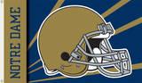NCAA Notre Dame Helmet Flag with Grommets Flag