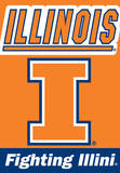 NCAA Illinois Fighting Illini 2-Sided House Banner Flag
