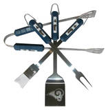 NFL St. Louis Rams Four Piece Stainless Steel BBQ Set BBQ Grill Set