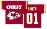 NFL Kansas City Chiefs 2-Sided Jersey Banner Flag