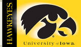 NCAA Iowa Hawkeyes 2-Sided Flag with Grommets Flag
