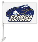 NCAA Georgia Southern Eagles Car Flag with Wall Bracket Flag