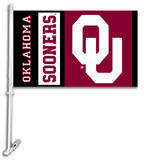NCAA Oklahoma Sooners Car Flag with Wall Bracket Flag
