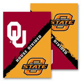 NCAA Oklahoma - Oklahoma State 2-Sided House Divided Rivalry Garden Flag Flag