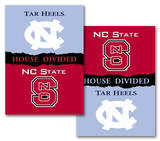 NCAA N. Carolina - NC State 2-Sided House Divided Rivalry Banner Flag