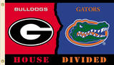 NCAA Georgia - Florida Rivarly House Divided Flag with Grommets Flag