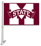 NCAA Mississippi State Bulldogs Car Flag with Wall Bracket Flag