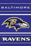 NFL Baltimore Ravens 2-Sided House Banner Flag