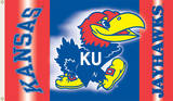 NCAA Kansas Jayhawks 2-Sided Flag with Grommets Novelty