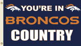 NFL Denver Broncos Flag with Grommets Flag