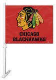 NHL Chicago Blackhawks Car Flag with Wall Bracket Flag
