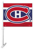 NHL Montreal Canadiens Car Flag with Wall Bracket Novelty