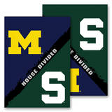 NCAA Michigan - Michigan St. 2-Sided House Divided Rivalry Garden Flag Novelty