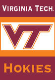 NCAA Virginia Tech Hokies 2-Sided House Banner Flag