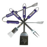 NFL Minnesota Vikings Four Piece Stainless Steel BBQ Set BBQ Grill Set