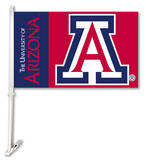 NCAA Arizona Wildcats Car Flag with Wall Bracket Novelty