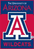 NCAA Arizona Wildcats 2-Sided House Banner Wall Scroll
