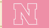 NCAA Nebraska Cornhuskers Pink Design Flag with Grommets Flag