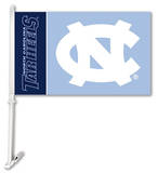 NCAA North Carolina Tar Heels Car Flag with Wall Bracket Flag