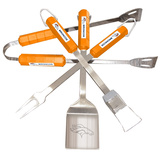 NFL Denver Broncos Four Piece Stainless Steel BBQ Set BBQ Grill Set