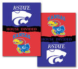 NCAA Kansas - Kansas State 2-Sided House Divided Rivalry Banner Wall Scroll