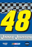 Nascar Jimmie Johnson 48 2-Sided House Banner Wall Scroll