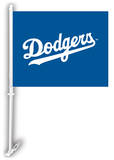 MLB Los Angeles Dodgers Car Flag with Wall Bracket Novelty