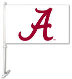 NCAA Alabama Crimson Tide Car Flag with Wall Bracket Flag