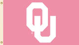 NCAA Oklahoma Sooners Pink Design Flag with Grommets Flag