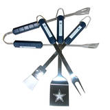 NFL Dallas Cowboys Four Piece Stainless Steel BBQ Set BBQ Grill Set