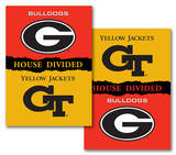 NCAA Georgia - Georgia Tech 2-Sided House Divided Rivalry Banner Flag