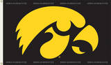 NCAA Iowa Hawkeyes Flag with Grommets Flag