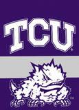 NCAA Texas Christian Horned Frogs 2-Sided Garden Flag Bandera