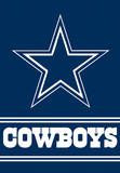 NFL Dallas Cowboys 2-Sided House Banner Flag