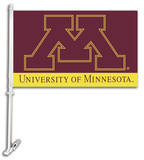 NCAA Minnesota Golden Gophers Car Flag with Wall Bracket Novelty