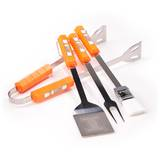 NCAA Illinois Fighting Illini Four Piece Stainless Steel BBQ Set BBQ Grill Set