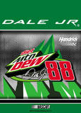 Nascar Dale Jr. 88 Mountain Dew 2-Sided Garden Flag Novelty
