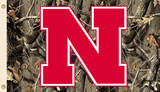 NCAA Nebraska Huskers Camo Flag with Grommets Flag