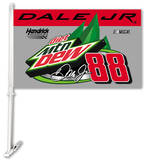 Nascar Dale Jr. 88 Mountain Dew Car Flag with Wall Bracket Novelty