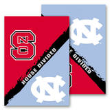 NCAA N. Carolina - Nc State 2-Sided House Divided Rivalry Garden Flag Flag