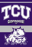 NCAA Texas Christian Horned Frogs 2-Sided House Banner Bandera