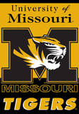 NCAA Missouri Tigers 2-Sided House Banner Flag