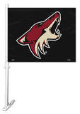 NHL Phoenix Coyotes Car Flag with Wall Bracket Novelty