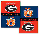 NCAA Georgia - Auburn 2-Sided House Divided Rivalry Banner Flag