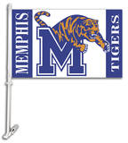 NCAA Memphis Tigers Car Flag with Wall Bracket Novelty